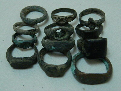 Ancient Bronze 12 Rings Bactrian 300 BC   #GL1750