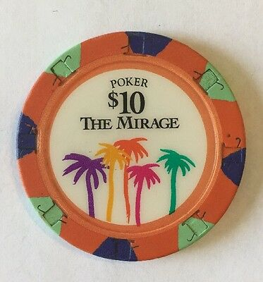 THE MIRAGE Las Vegas, NV $10 casino poker chip