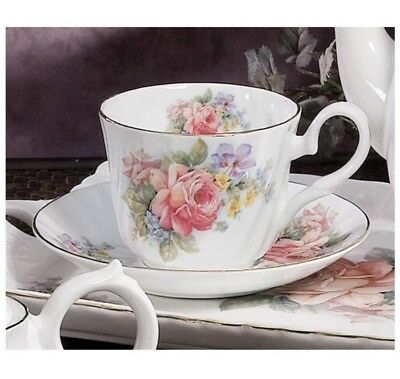 "NEW Set Royal Patrician Bone China ""Guinevere"": Tea Cup & Saucer"
