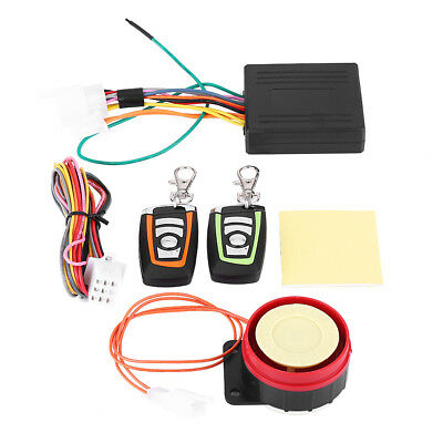 12V 2-Way Motorcycle Scooter Security Alarm System Anti-theft Remote Control SG