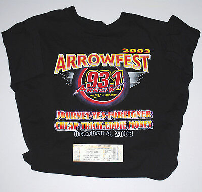 Yes ~ Arrowfest 2003 Featuring Yes ~ Concert Exclusive Shirt-Ticket