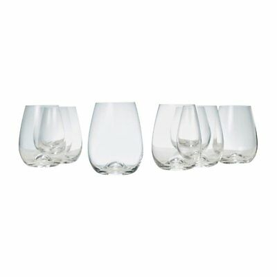 NEW Salt & Pepper Polo Stemless Wine Glass 460ml Set of 8 (RRP $60)