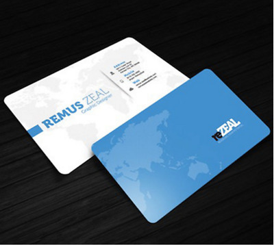 Expedited 1000 PVC Plastic Business Card Printing - Matte Finish Double Sides