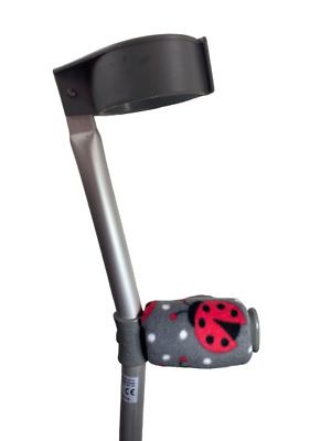 Crutch Handle Padded Covers HIGH QUALITY Cushioned Foam Pad - Ladybird