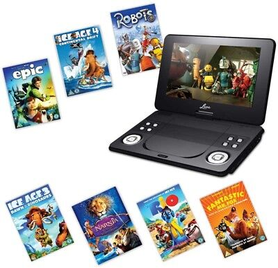 Portable DVD Player 9 Inch With 7 Fox Family Movies Car Trip Holiday In Car New