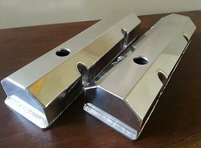 Chev SBC Sheet Alloy Fabricated Valve Rocker Covers for 350 383 400 etc.