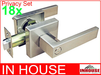 Builders!wholesalers!resell!bulk 20xDoor handles-Privacy set-Satin finish(6502)