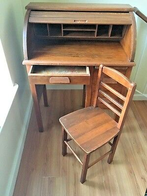 VTG American Style Child's Roll Top Desk by EASTMAN LANE *Send Me An Offer!*