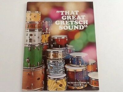 Vintage 1971 That Great Gretsch Sound Drums Catalog 40 Pages No.45
