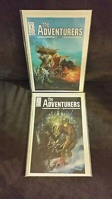 The Adventurers #1 & 2 (Aircel, 1986), Rare Copper Age, 1st print,