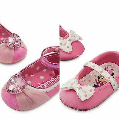 Disney Store Baby Girl MINNIE MOUSE Costume Ballet Flats Crib Shoes New