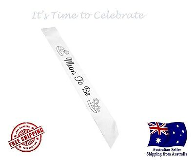 MUM TO BE SASH, Baby Shower Satin Sash - Size 156 * 9.5 cm