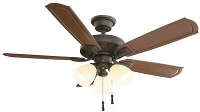 Hampton Bay Tucson 48 in. Oil Rubbed Bronze Indoor/Outdoor Ceiling Fan with