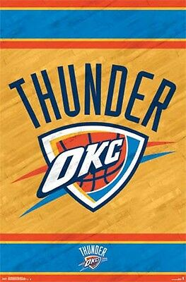 Oklahoma City Thunder - Logo - NBA Basketball Poster #2