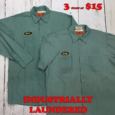 Red Kap Shirts Light Green Short Long Sleeve Men's Work Uniform PACKS START $15