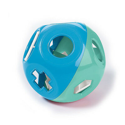 Tupperware Shape-O-Toy Ball Sorter in Blue/Mint Color w/10 White Shapes - NEW!