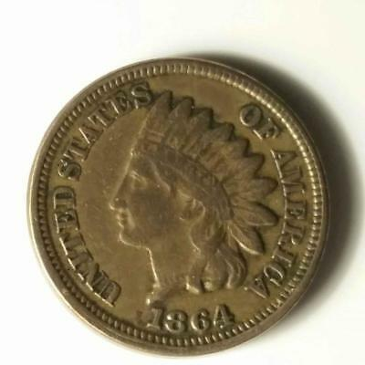 1864 Copper Nickel Indian Head Cent 1 c (RC4039)