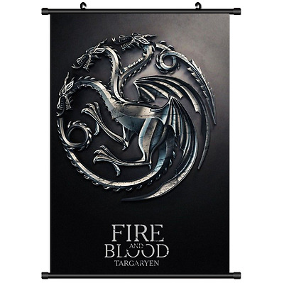 Hot TV show Game of Thrones Wall Poster Scroll Cosplay 3008