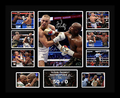 Floyd Mayweather Conor McGregor Money Fight Signed Limited Edition Memorabilia