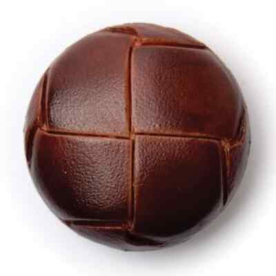 Imitation Brown Leather Shank Button 23mm