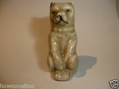 Rare Victorian Novelty Bear Design  Whistle Porcelain