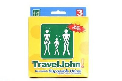 TravelJohn Resellable Desechable Viaje Orinal Inodoro Unisex Festivales Camping