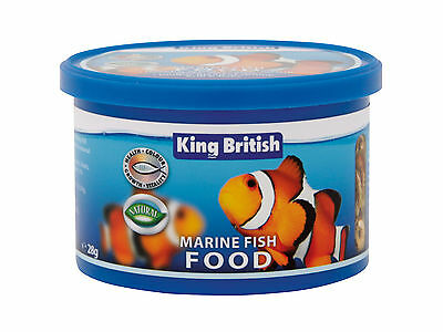 King British POISSON MARIN Récif nourriture flocon 28g