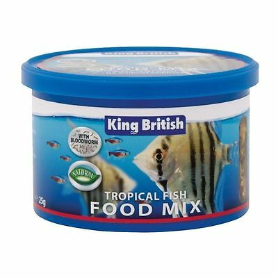 King British Tropical Mix Nourriture 25g Aquarium Poisson Guppy Gourami TETRA