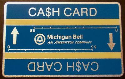 TK Telefonkarte 10. Michigan Bell (Blue) Cash Card With (Two) Optical Stripes (7
