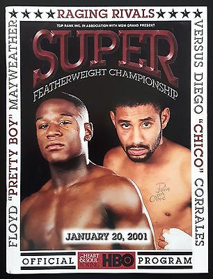 2001 FLOYD MAYWEATHER (50-0) v DIEGO CORRALES on-site programme with bout sheet
