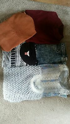 ladies size 12 clothes bundle jeans tops