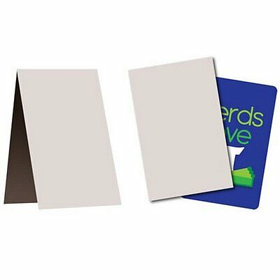 "200 Empty Flat Cardboard Vending Folders 3"" x 4.5"" Sleeves - Great for Mailing!"