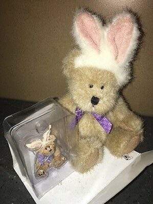 NEW Boyds Easter Bunny Lil' Cottontail Sumptin' Gift Set with Magnet