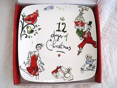 "Lenox 12 Days of Christmas 10"" Square Platter Plate - New in Box"