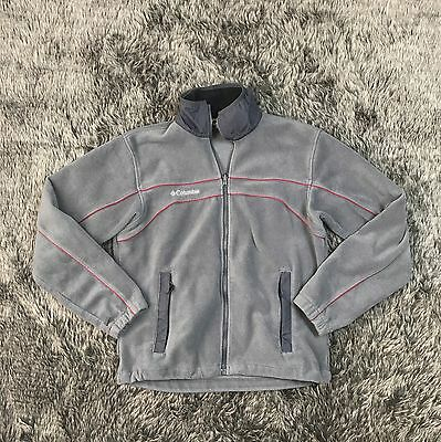 Columbia Men's Vertex Core Interchange Gray Fleece Zip Up Jacket Size M Thick