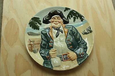 """Davenport England Collector Plate """"Long John Silver"""" 6th Issue in the """"Toby"""" Col"""