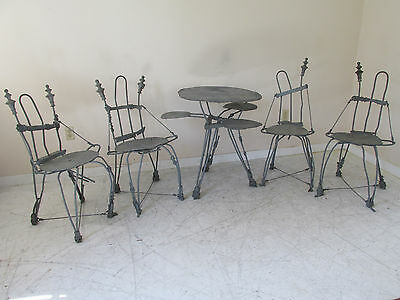 Whimsical ''Fairy Made'' Made Steel Bistro Set