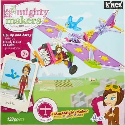 K'NEX Mighty Makers Up - Up & Away Building Set with AVA - 139 pcs