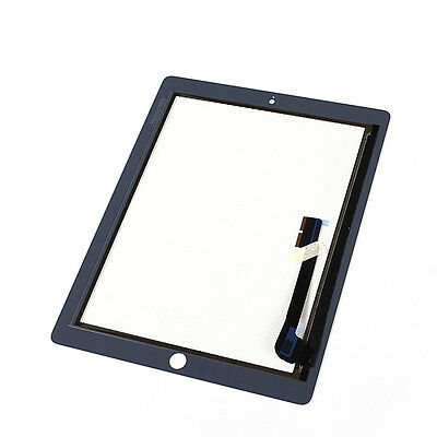 For iPad 4 Replacement Touch Screen Glass Digitizer & Home Button A1458 Black