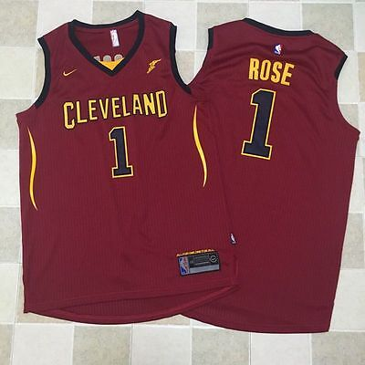 New Season Cleveland Cavaliers #1 Derrick Rose Basketball  Jersey  Red S-XXL