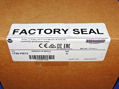 2016 FACTORY SEALED Allen Bradley 1756-PB72 /C DC Power Supply ControlLogix