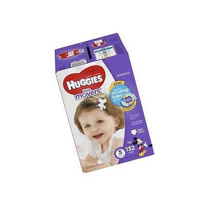 HUGGIES Little Movers Diapers Size 5 132 Count (Packaging May Vary)