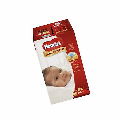 HUGGIES Little Snugglers Baby Diapers Size 1 216 Count (Packaging May Vary) (...