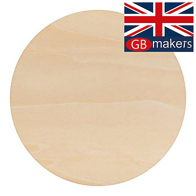 Birch Plywood Ply Sheet Circles Wooden Wood Board  Sheets Round Frame Craft