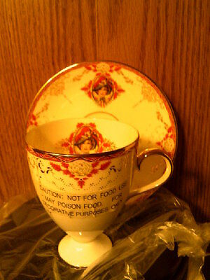 RHTF AVON 1997 Honor Society Mrs Albee Cup & Saucer with wood display-New in Box