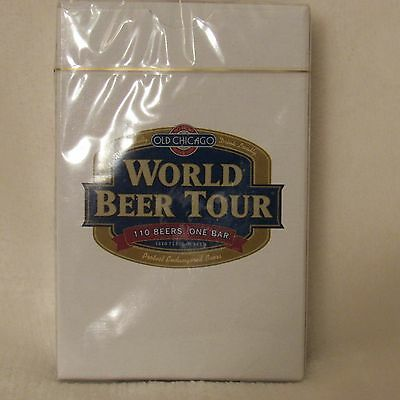 Old Chicago World Beer Tour Playing Cards - NIB/Sealed - Beer Collectible