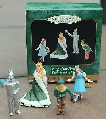 Hallmark Wizard of Oz King of the Forest Ornament Miniature Set of 4