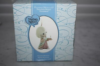 "Precious Moments ""May your Faith Light The Way"" Porcelain Bisque Ornament 2009"