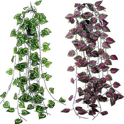Newest Green Artificial Ivy Leaf Garland Plants Vine Foliage Flowers Home Decor