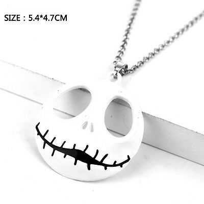 The Nightmare Before Christmas Necklace Chain Jack Skull Metal Pendant Gift
